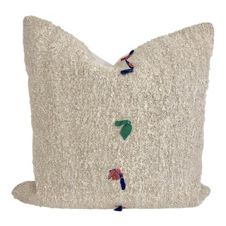 Natural Turkish Hemp Pillow 23 X 23 For Sale