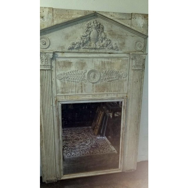 Large 19c French Neoclassical Revival Trumeau Mirror For Sale In Dallas - Image 6 of 8