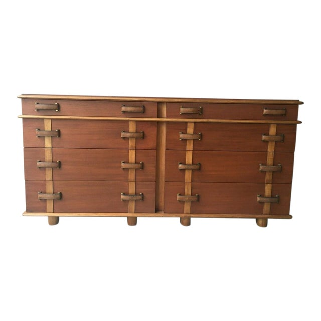 1950s Mid-Century Modern Johnson Brothers Paul Frankl Station Wagon Series Double Chest - P For Sale