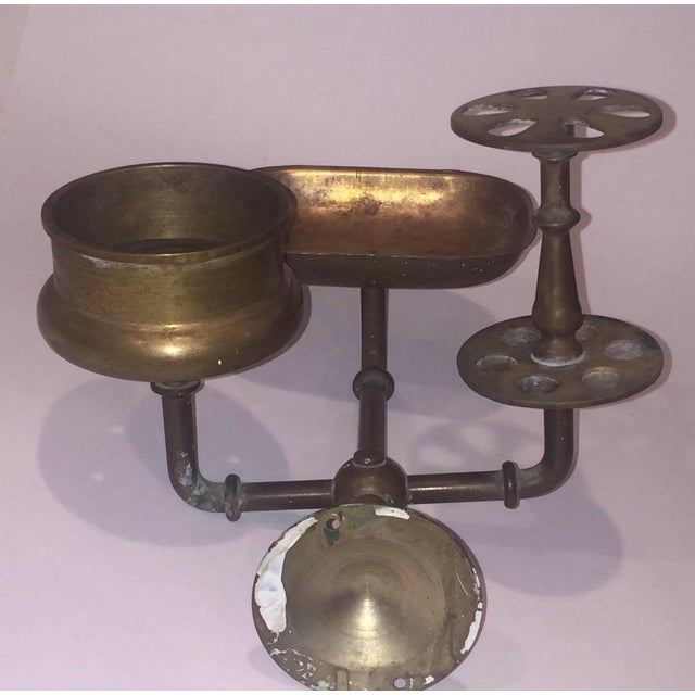 Vintage Brass Bathroom Wall Fixture For Sale - Image 10 of 12