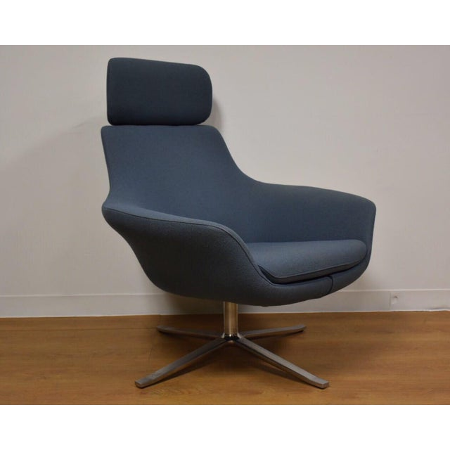 Superb Bob Contemporary Modern Gray Blue Lounge Chair Home Interior And Landscaping Oversignezvosmurscom