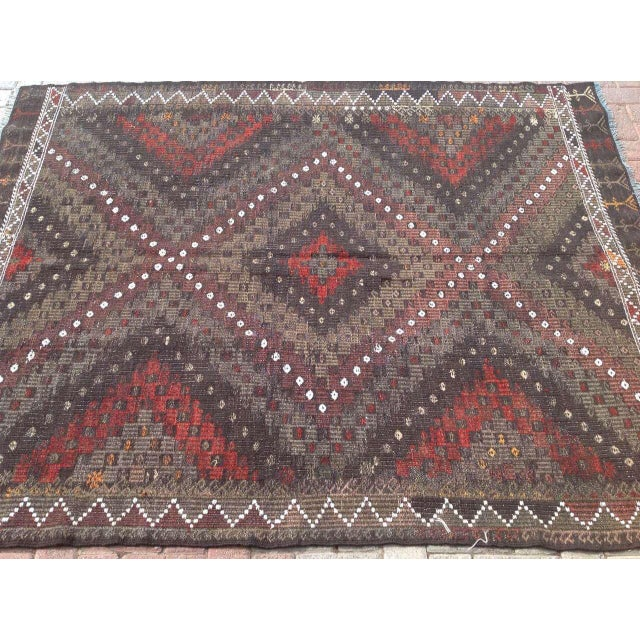 Vintage Turkish Kilim Rug - 5′7″ × 7′2″ - Image 4 of 7