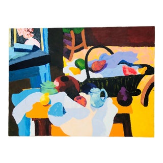 Multi-Colored Abstract Still Life on Canvas For Sale