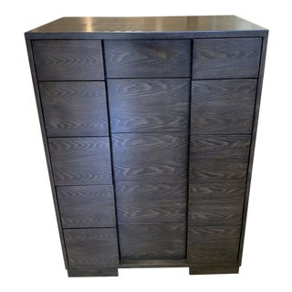 Five Drawer Dark Walnut Finish Dresser For Sale