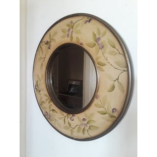 Hand Painted Round Plum Mirror Preview