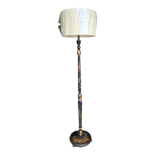 Hollywood Regency Maitland-Smith Hand Painted Floor Lamp For Sale