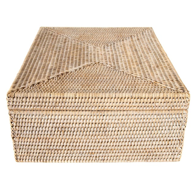 2010s Artifacts Rattan Storage Box With Lid For Sale - Image 5 of 6