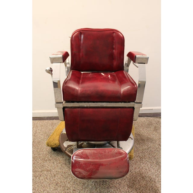 Vintage Mid Century Modern Narda Barber Chair - Image 4 of 11