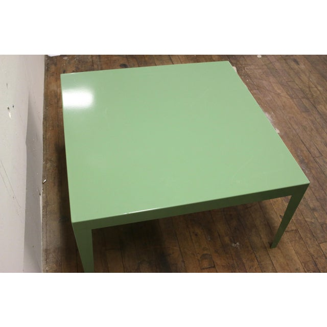 1950s 1950s Mint Green Mid-Century Powder Coated Steel Coffee Table For Sale - Image 5 of 13