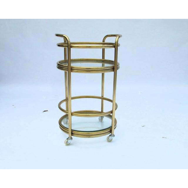 1970s Milo Baughman 3-Tier Bar Cart - Image 2 of 5