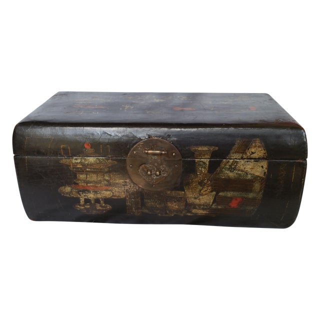 19th Century Chinoiserie Lacquer Box - Image 1 of 6