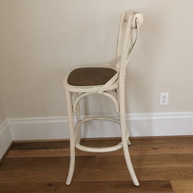 Arhaus French Style Cadence Counter Stools - a Pair For Sale - Image 4 of 8
