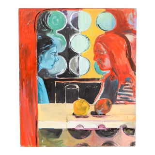 "Rachel Loyacono Original ""The Conversation"" Painting For Sale"