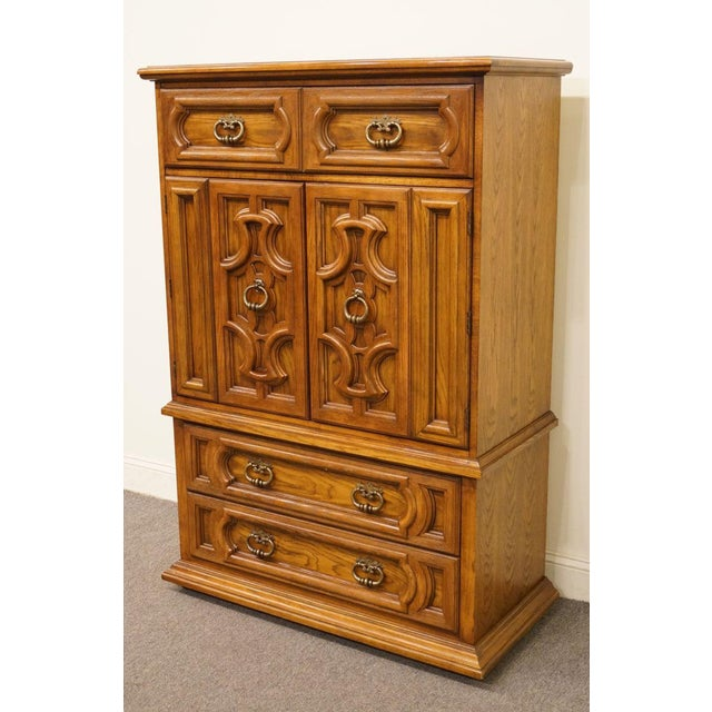 "Traditional 20th Century Traditional Thomasville Furniture Levitz Collection 41"" Door Chest/Armoire For Sale - Image 3 of 13"