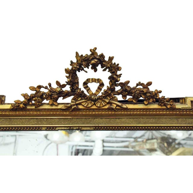 French French Victorian Carved Gilt Wood Mirror For Sale - Image 3 of 9