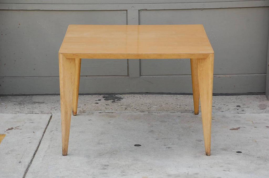 Attrayant This Listing Is For A Bleached Wood Modernist Coffee/side Table.
