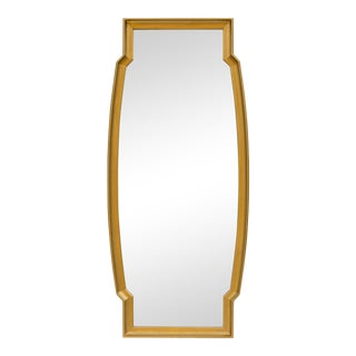 Tall Mid-Century Giltwood Mirror For Sale