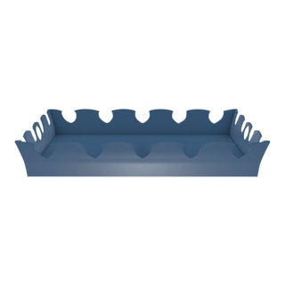 Oomph Ocean Drive Outdoor Tray, Blue For Sale
