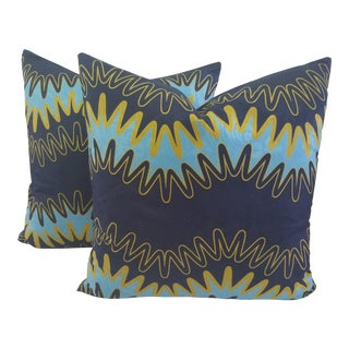"Modern ""Lightening"" Custom Pillows - a Pair"