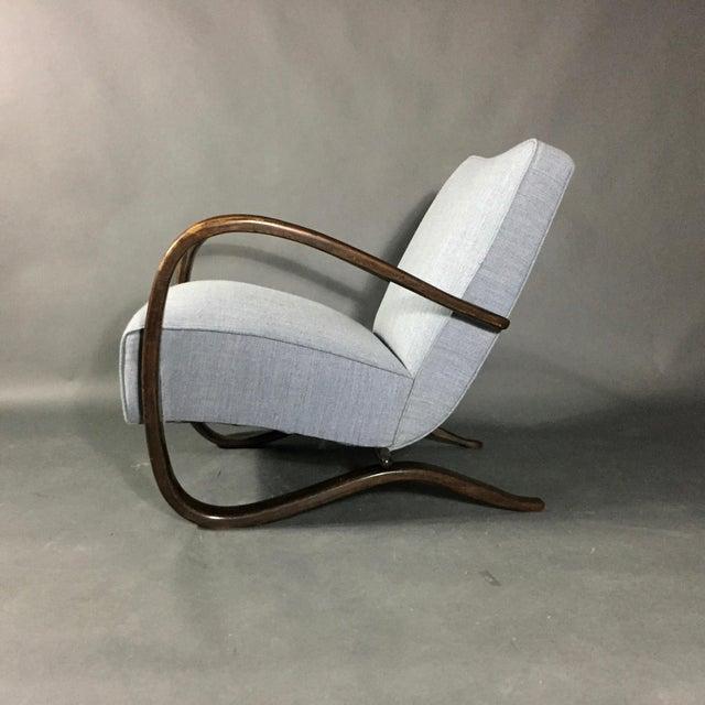 Jindřich Halabala Lounge Chair, Czech Republic, 1930s For Sale - Image 11 of 11