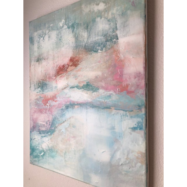 Abstract Contemporary Abstract Expressionist Pastel Acrylic Painting For Sale - Image 3 of 8