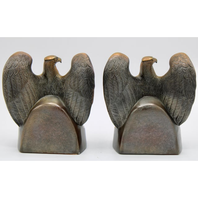 """Vintage """"1776"""" American Federal Eagle Bookends For Sale - Image 9 of 13"""