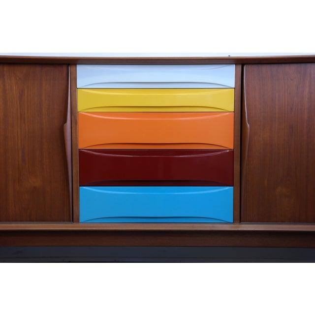 Dyrlund Multicolor Danish Modern Credenza - Image 3 of 10