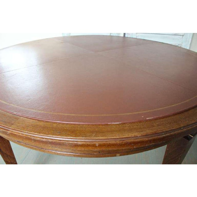 French 1940s Mahogany Card Table For Sale - Image 4 of 8