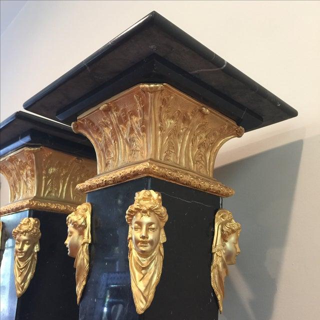 Ormolu-Mounted Black Marble Pedestals - Pair - Image 5 of 11