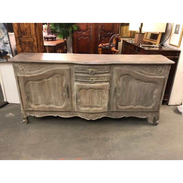 Gray 19th Century French Louis XV Graphite Washed Enfilade For Sale - Image 8 of 8