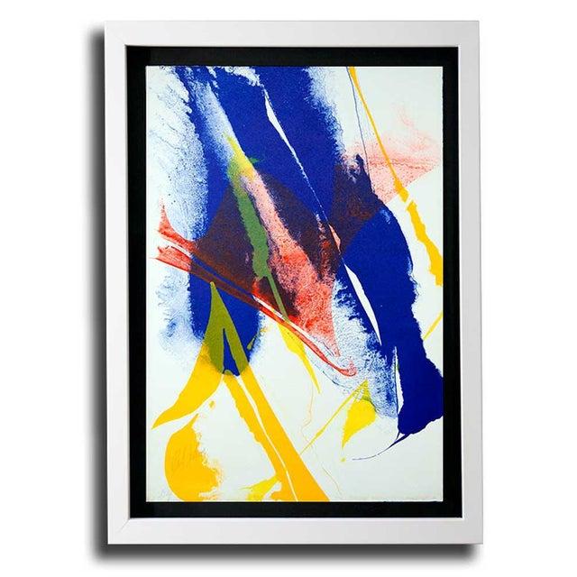 Modern Paul Jenkins Lithograph Original, Hand Signed 1965 Vélin D'Rives +Framing For Sale - Image 4 of 4