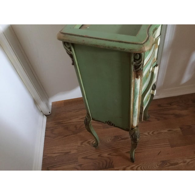 Early 20th Century 20th Century Shabby Chic Green Nightstand/Chest For Sale - Image 5 of 7
