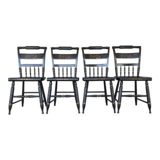 L. Hitchcock Black Harvest Inn Chairs - Set of 4