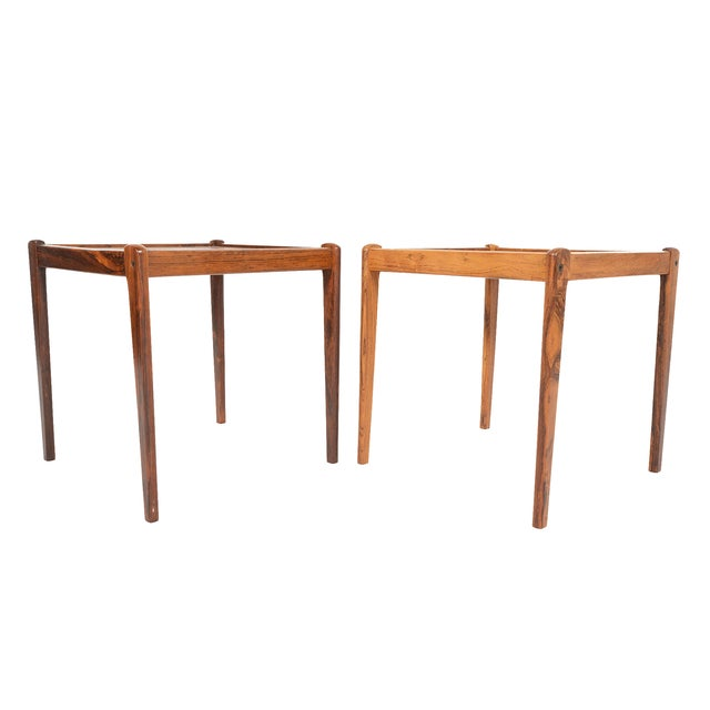 Danish Modern Rosewood Side Tables - A Pair - Image 2 of 6