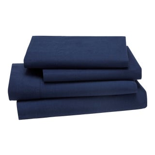 Lorimer Bedding King Pillowcase in Navy - a Pair For Sale