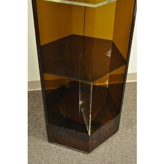 Vintage Mid-Century Modern Lucite Lighted Revolving Store Display Shelf Case Preview