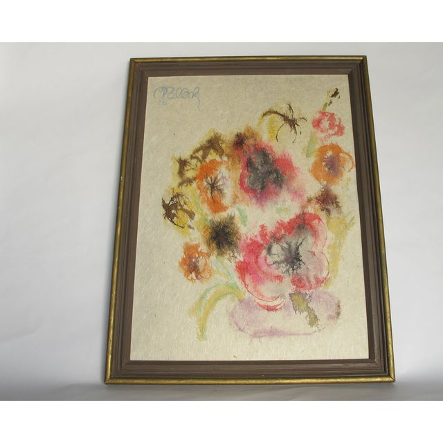 """1960s """" Love Power"""" Flower Painting - Image 2 of 4"""