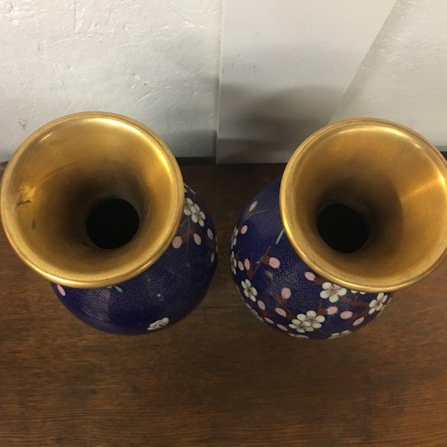 Cloisonné Vintage Vases - A Pair - Image 7 of 8