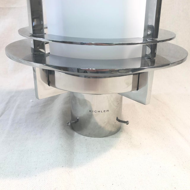 Kichler Pacific Edge Outdoor Post Lantern in Stainless Steel For Sale - Image 4 of 9