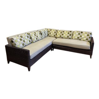 Pierce Martin Wicker Sectional For Sale