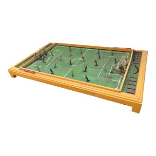 French Table Football Techni-Foot Tin Plate Game For Sale