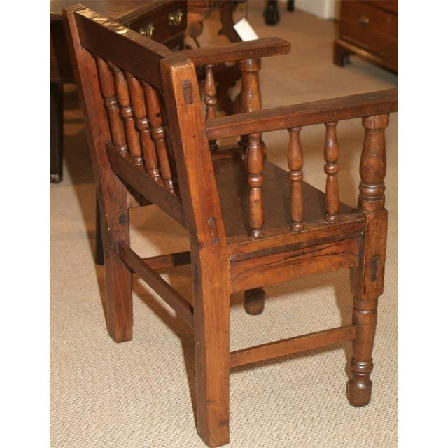 Mid 19th Century 1860s Spanish Colonial Armchair For Sale - Image 5 of 5