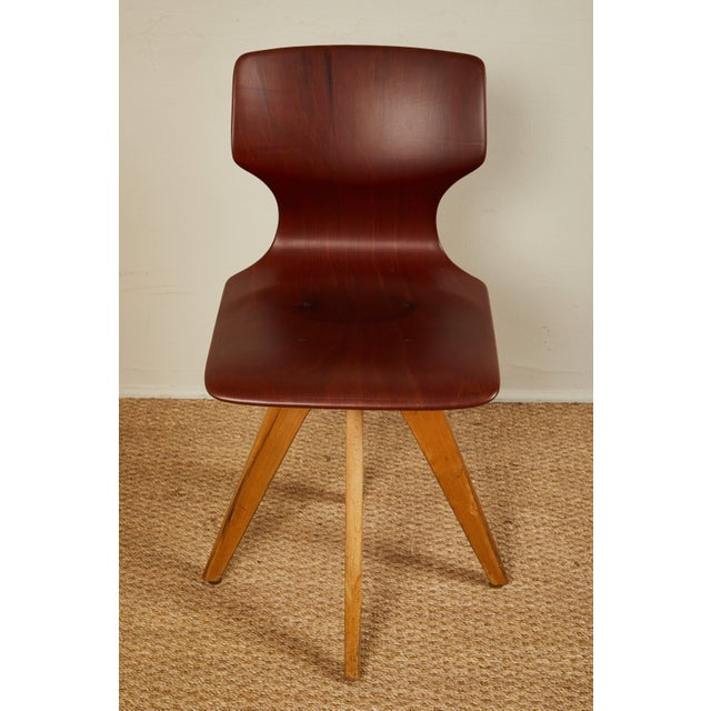 Mid-Century German School Chairs - Set of 6 For Sale In Los Angeles - Image 6 of 13
