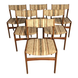 Mid Century Danish Teak Dining Chairs- Set of 6 For Sale