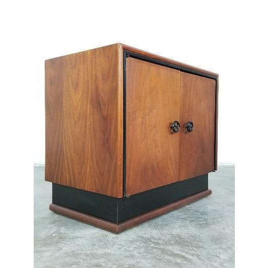 1960s Mid-Century Brown Saltman Night Stand For Sale - Image 5 of 13