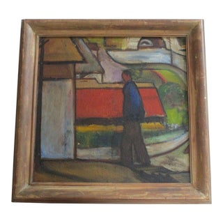 Important Wpa Era Painting Expressionism Modernism Regionalism American Vintage For Sale