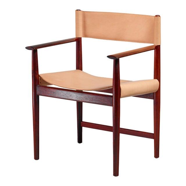 Kurt Østervig Rosewood and Leather Armchair for Sibast, Denmark, 1960s For Sale