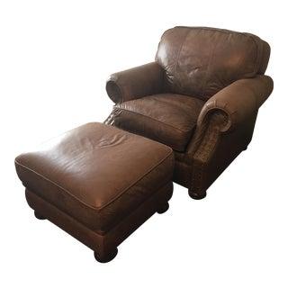 Ethan Allen Chair & Ottoman