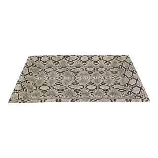 Faux Snakeskin Covered Tray For Sale