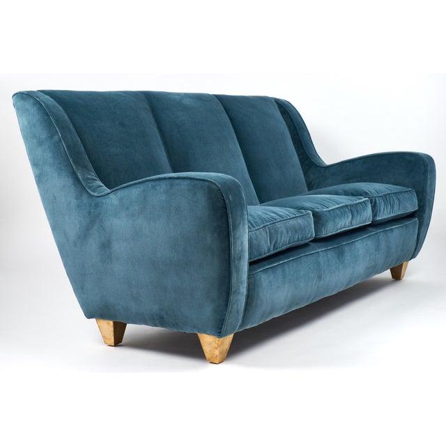 1960s Mid-Century Italian Poltrona Frau Velvet Sofa For Sale - Image 5 of 12